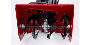 best gas two-stage snow blower extra wide clearance