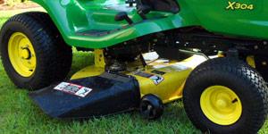 garden lawn tractor deck size
