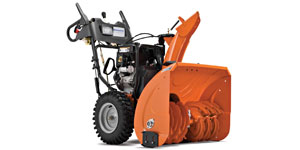 gas two-stage snow blower clearing width intake height