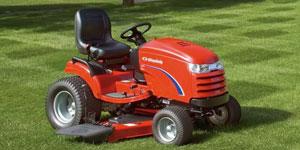 riding lawn mower deck size