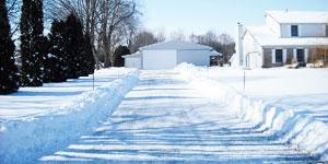 snow blower driveway size