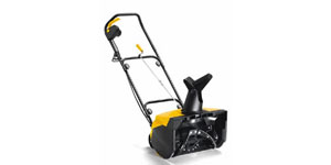 electric snow blower snow cut depth