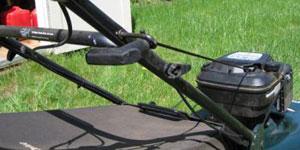 gas lawn mower starting system