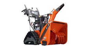 gas two-stage snow blower engine size horsepower