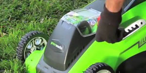 best electric lawn mower solid materials