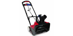 electric snow blower clearance capacity