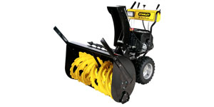 gas two-stage snow blower drift cutters skid shoes