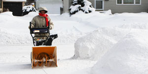 snow blower gas electric