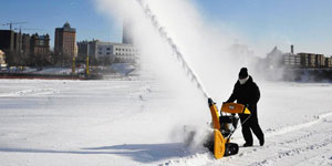 snow blower throwing distance
