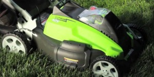 best electric lawn mower lightweight compact