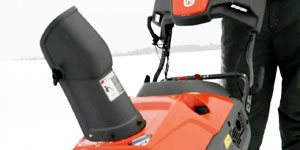 gas single stage snow blower chute rotation