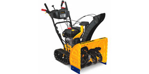 gas two-stage snow blower drive system