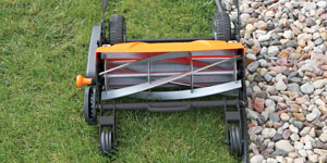 reel mower edging landscaping