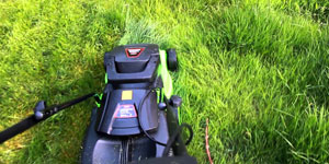 electric lawn mower push type self propelled